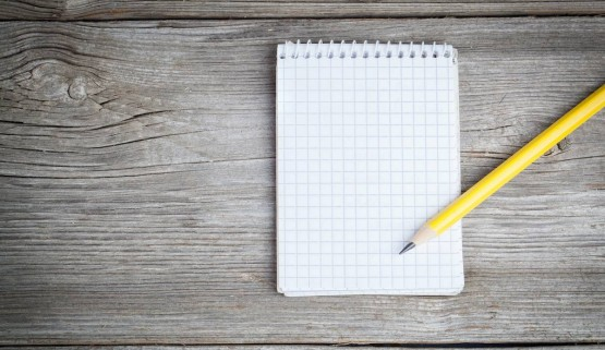 BIGSTOCK PHOTO: Notepad On A Wooden Table With Pencil Notepad on a wooden table with pencil by motorolka, Stock Photo 57898385